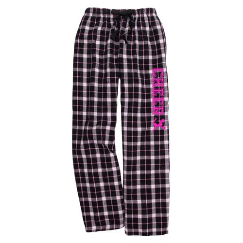 Cheerleading Black/Pink Flannel Pants