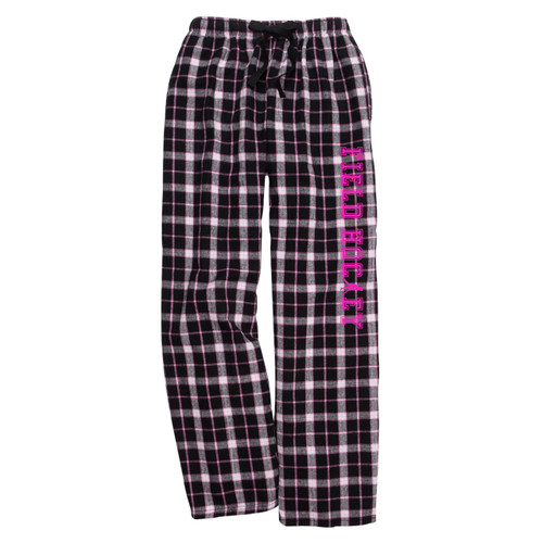 Field Hockey Black/Pink Flannel Pants
