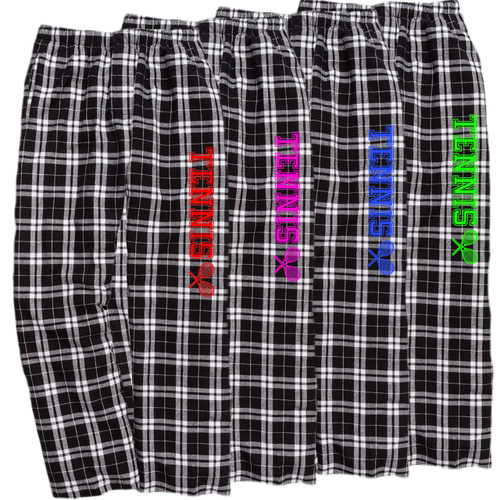 Tennis Black/White Flannel Pants