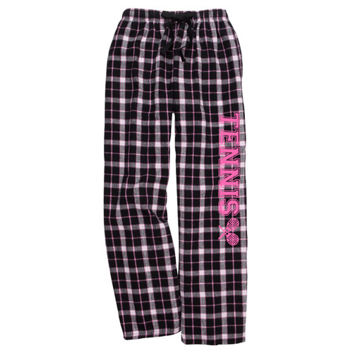 Tennis Black/Pink Flannel Pants