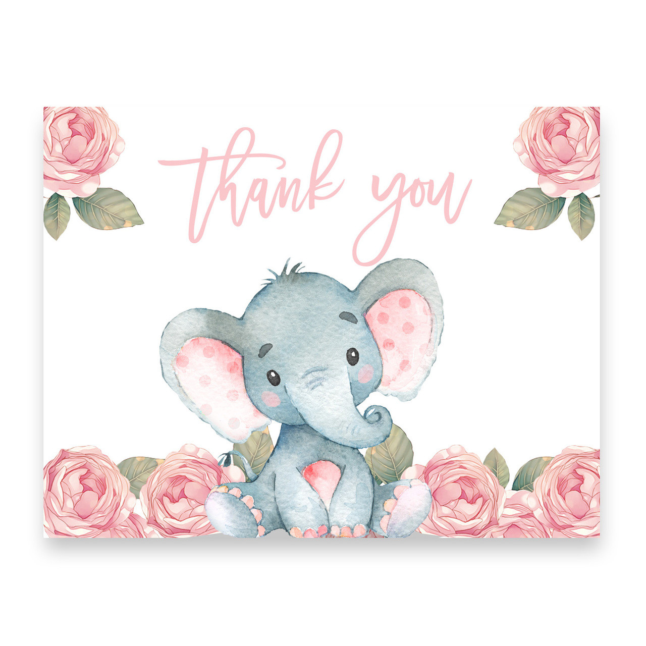 Nice ... Elephant Baby Shower Invitation, Pink Floral Elephant · Bring A Book  Card · Thank You Card