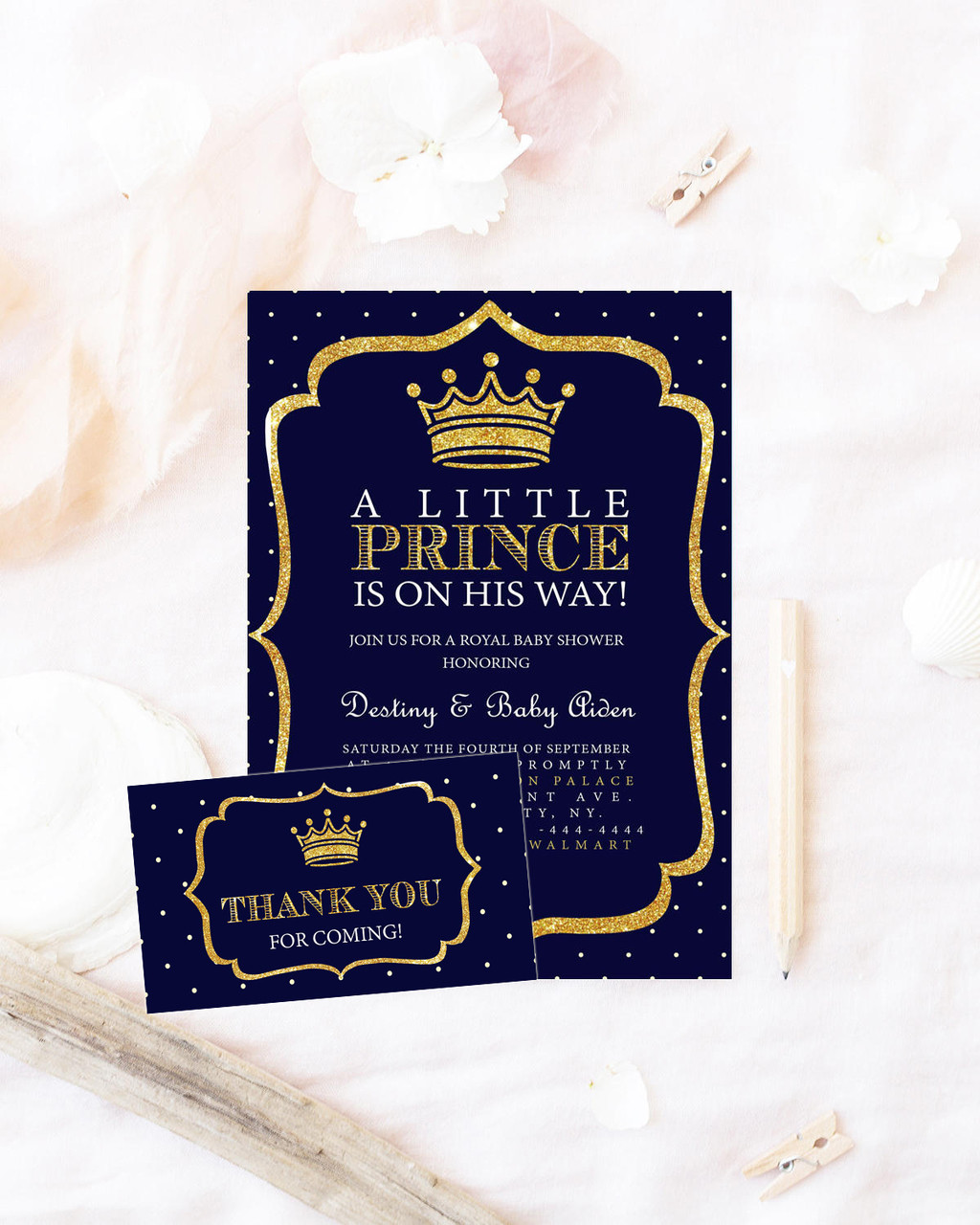 prince baby shower invitation, royal baby