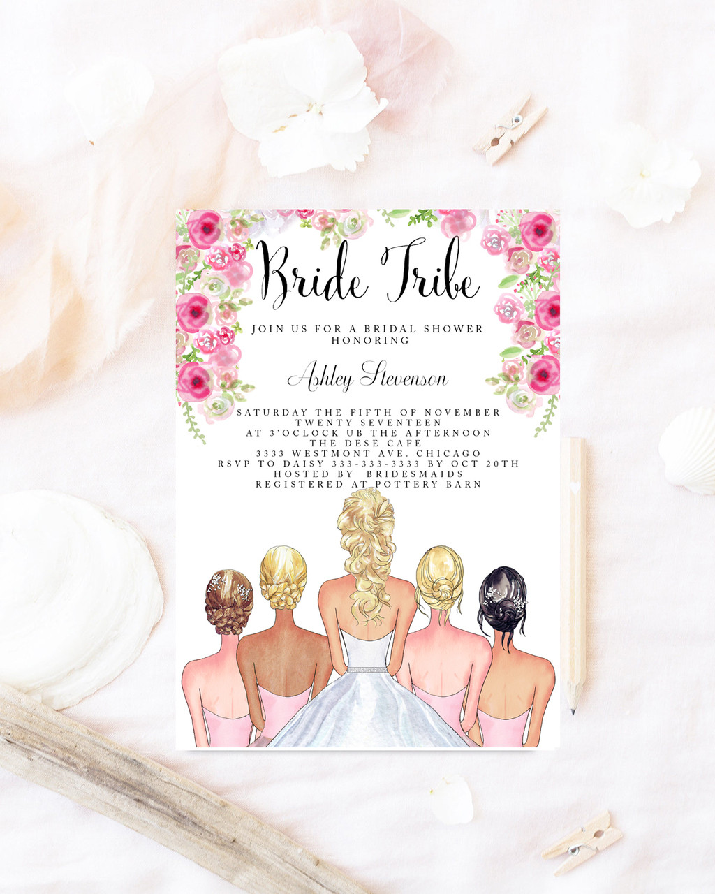 Bridal shower invitation bride tribe bridal shower invite bridal shower invitation bride tribe bridal shower invite bridesmaid bridal shower invitationbride filmwisefo Choice Image