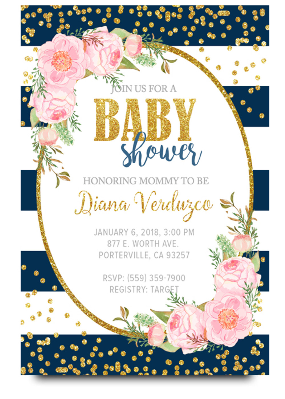 Bue floral baby shower invitation flower baby shower invite floral baby shower invitation elegant baby shower invite watercolor baby shower invite baby filmwisefo Choice Image