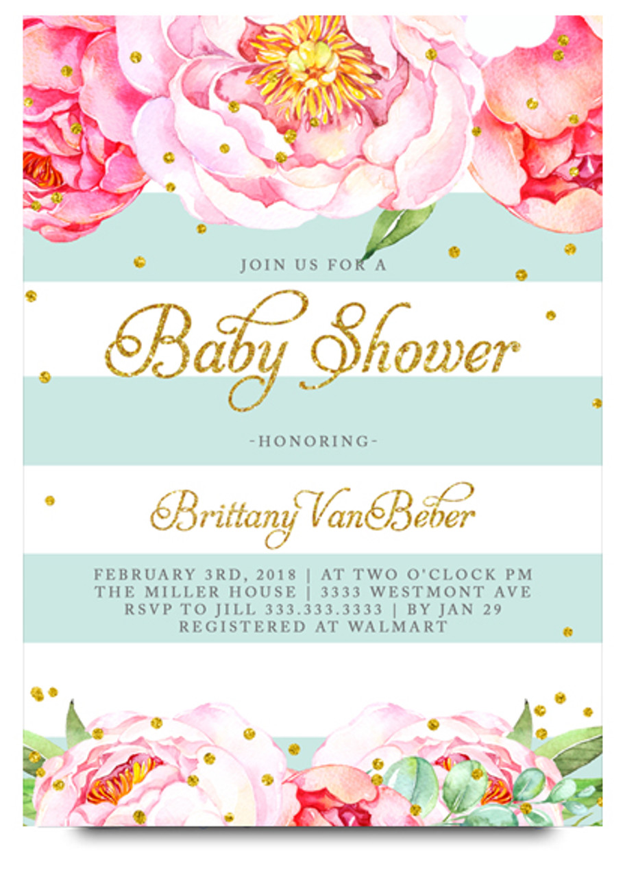 Bue floral baby shower invitation flower baby shower invite floral baby shower invitation elegant baby shower invite watercolor baby shower invite baby filmwisefo