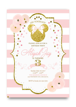 CHILDREN Minnie Mouse Invitations Dream Paperie