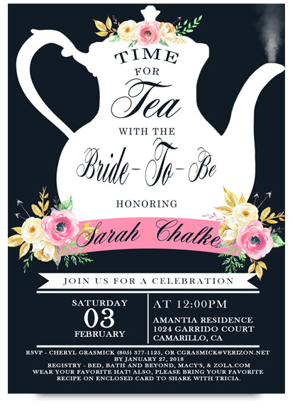 High tea bridal tea party invitation tea bridal shower tea party bridal shower tea party invitation tea invitation filmwisefo Images