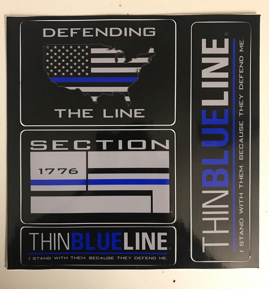 Thin Blue Line Sticker Packet