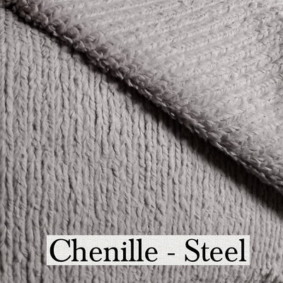 "*Chenille - Steel Gray:  30""x40"" (misc. colors) Blanket *Q.S."