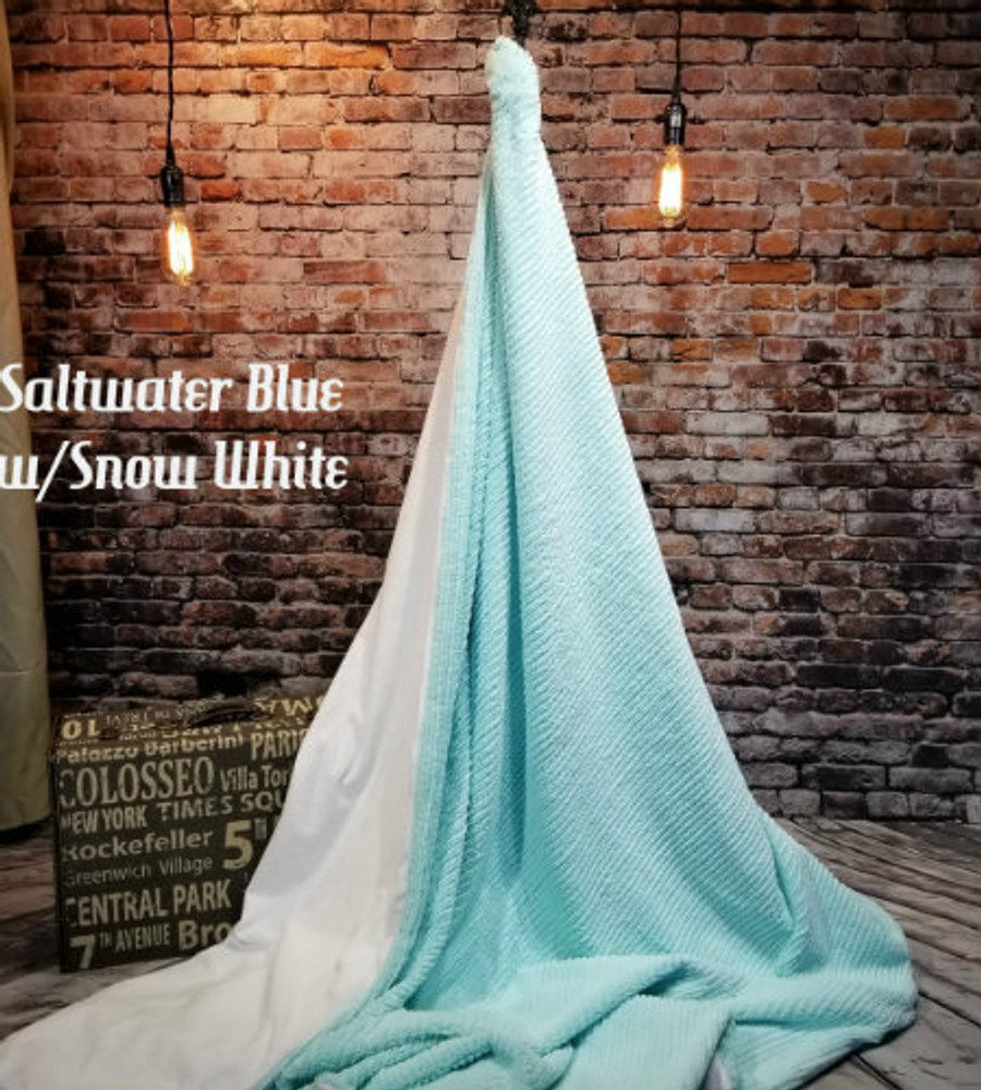 Saltwater Blue Chenille w/Snow White