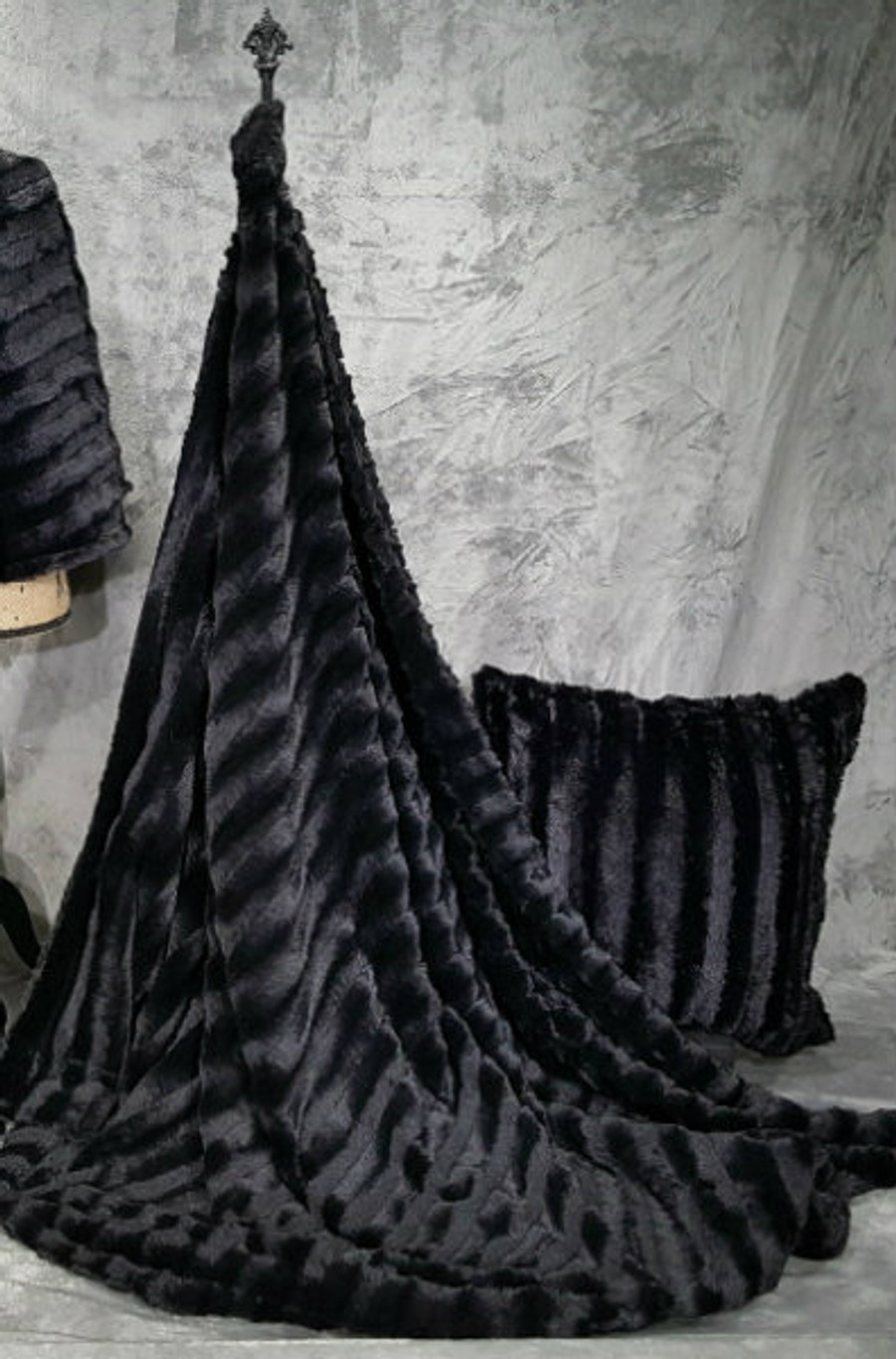 """A Sable in Black - 50""""x 60"""" Blanket, Divine Fabric *DEAL"""
