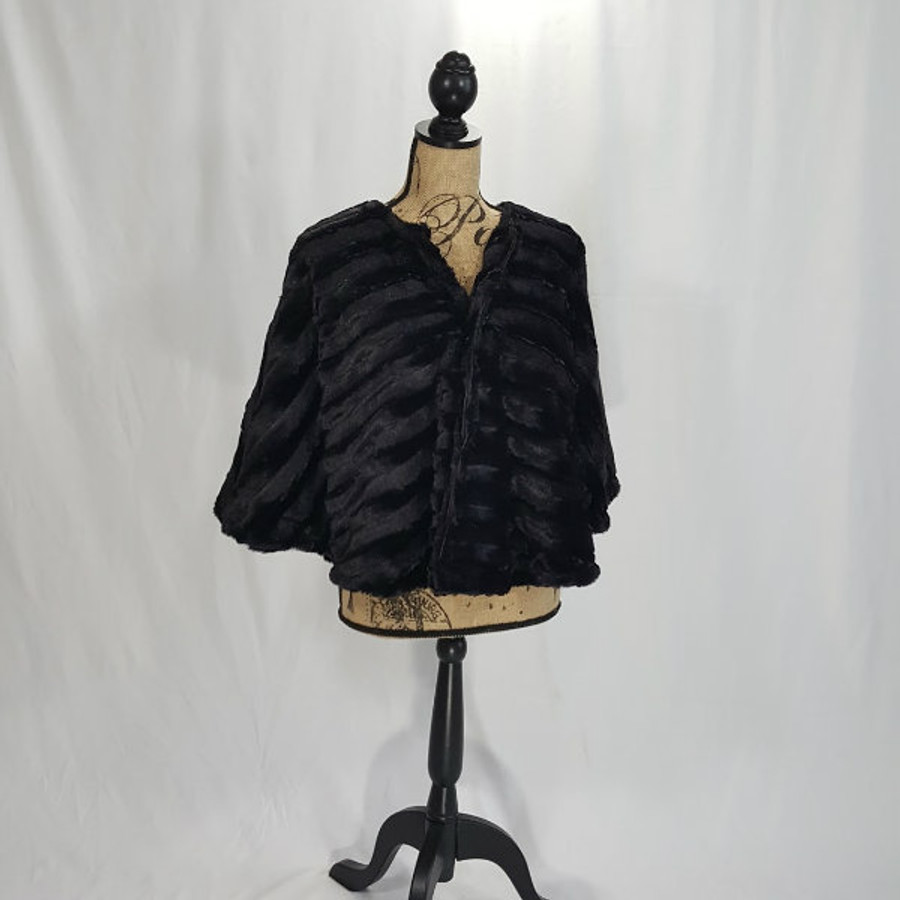 """Sable in Black - 48"""" Wrap, Divine Fabric *DEAL"""
