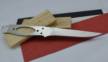 blade shown in kit, with optional scales, corby bolts and fibre spacer material