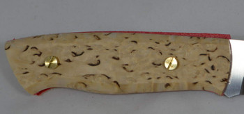 EnZo Trapper/Chef scales in Curly Birch, with brass corby bolts