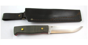 EnZo Camper Knife Kit, Black Canvas Micarta