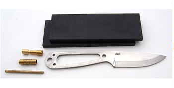 EnZo Necker Knife Kit, Scandi Grind, Black Micarta