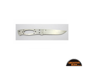 EnZo Trapper Blade 115 mm, Flat Grind, Stainless Steel (12c27)