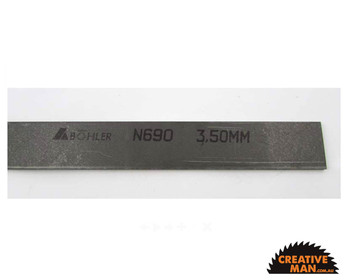N690 Stainless Steel, 3.5 x 50 x 500 mm