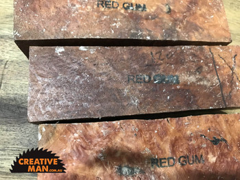 Red Gum Burl Blocks, Super Grade