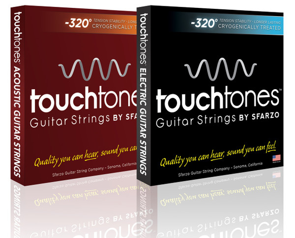 """TOUCHTONES - ACOUSTIC - FIRST GUITAR STRING COMPANY IN THE WORLD TO MANUFACTURE """"TOUCHTONES"""" by Sfarzo Strings  -  CRYOGENIC FROZEN DURABILITY   LONGEVITY"""