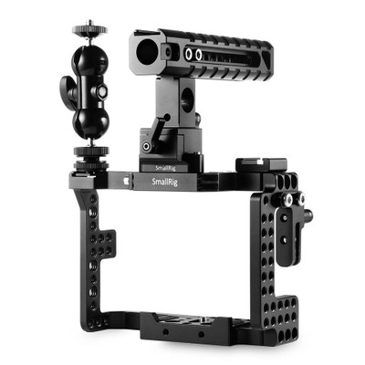 SmallRig Sony A7II/A7RII/A7SII 専用ケージキット チーズハンドル付き HDMIプラグ付き NATOレール-1894