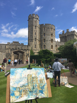 Plein Air Painting Event # Windsor Castle.