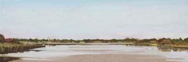 Norfolk Broads painting, horsey mere plein air, en plein painting.
