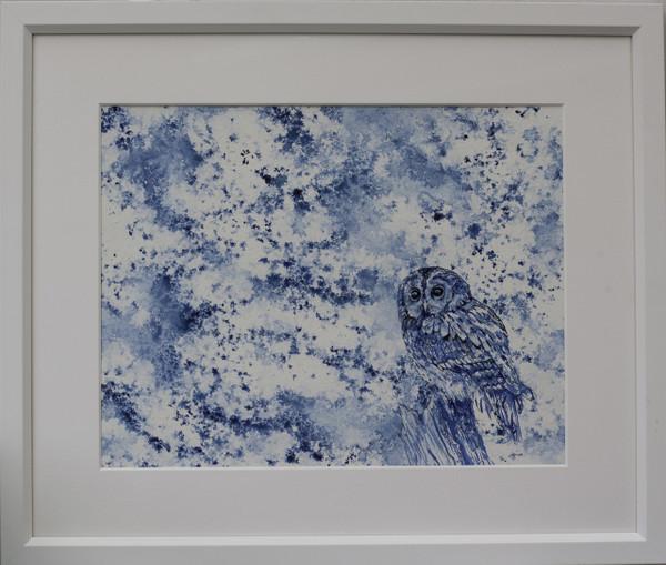 Tawny Owl Art Framed