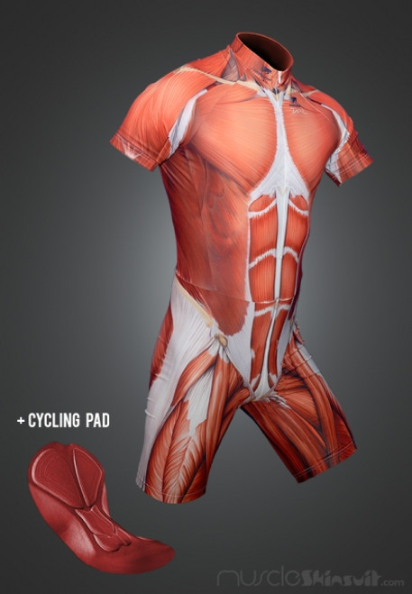 Muscle skinsuit short with cycling pad