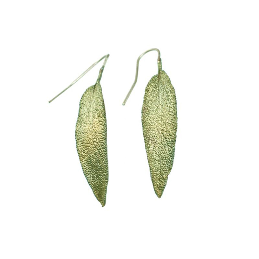 """Sage """"Leaf"""" Fishhook Earrings"""