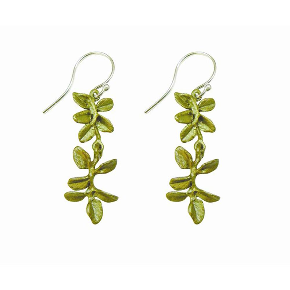"""Petite Herb Thyme """"Wire"""" Fishhook Earrings"""