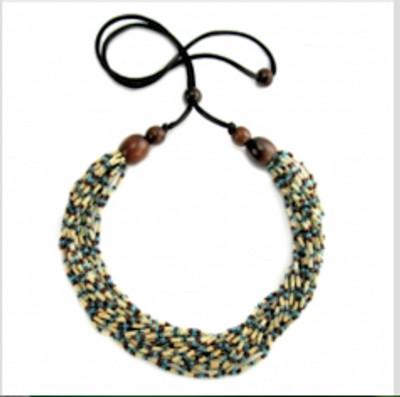 """Handmade Zulugrass African Necklace """"Snake"""""""