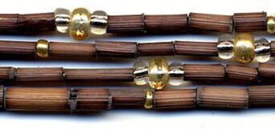 "26"" Handmade African Bead Jewelry Strand in Kenya Gold"