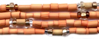 "26"" Handmade African Bead Jewelry Strand in Butternut"