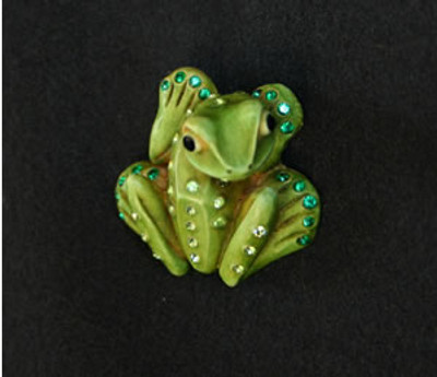 AB Event - Frog Pin with Swarovski Crystals