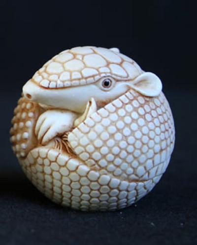 AB Netsukes - Armadillo-Ivory (Box)