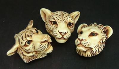 AB Netsukes - Big Cat Masks
