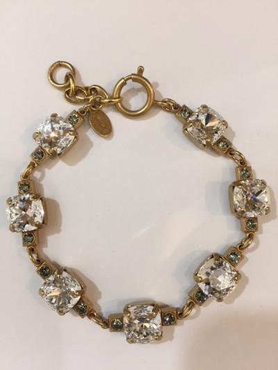 Clear Multi-Swarovski Crystals and Gold Bracelet