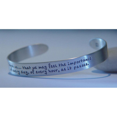 Jane Austen's Prayer Sterling Silver Cuff
