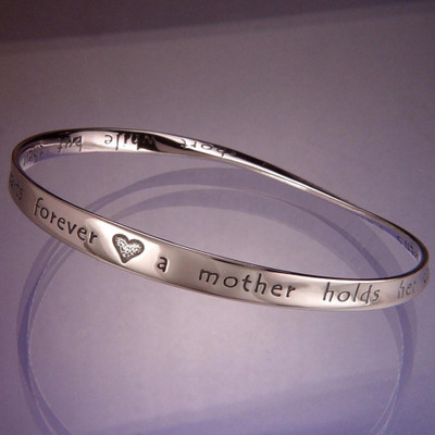 Hearts Forever Sterling Silver Bangle