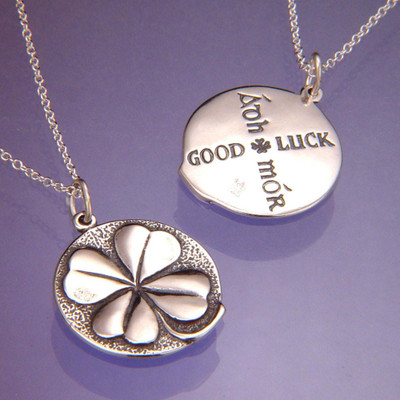 Four Leaf Clover Sterling Silver Necklace