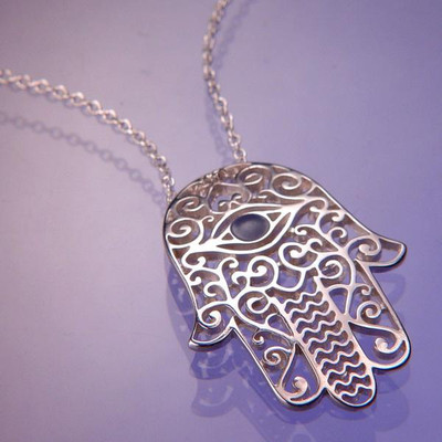 Hamsa Sterling Silver Necklace