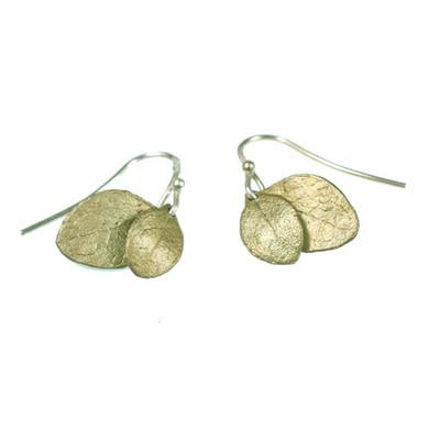 "Irish Thorn ""Double Leaf"" Fish Hook Earrings"