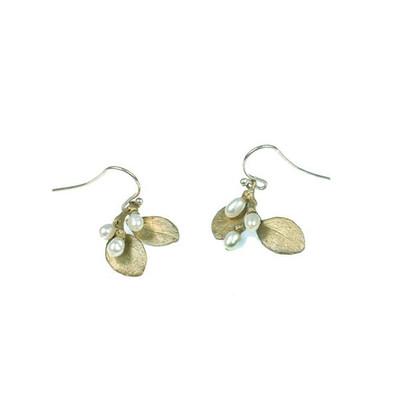 "Irish Thorn ""Double Drop Pearl"" Fish Hook Earrings"