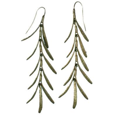 """Rosemary """"Long Wire"""" Dangle Fishhook Earrings"""