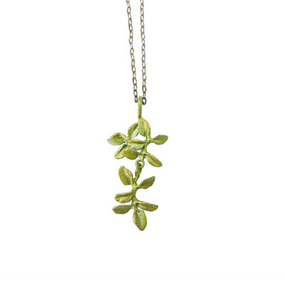 Petite Herb Thyme Pendant Necklace
