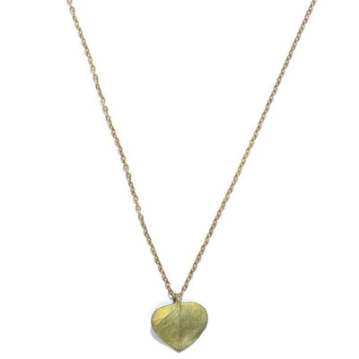 Eucalyptus Leaf Petite Necklace