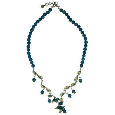 """Blueberry Adjustable """"Bead Row"""" Necklace"""