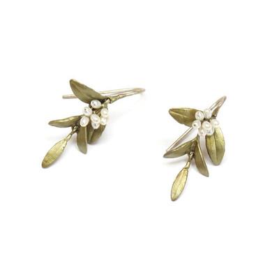 Flowering Myrtle Fishhook Earrings