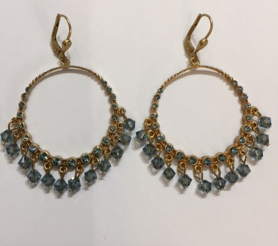 """Also available with Swarovski """"Indian Sapphire"""" crystals.  Item #LVP.0023"""